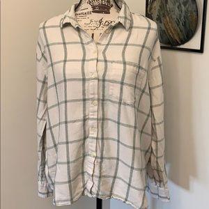 Madewell button down long sleeve shirt- XL